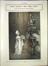 Old Orginal Print Time Goodman Girl Clock Theatre Romeo Juliet 1903 41R7341