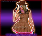 FANCY DRESS COSTUME # SEXY WILD WEST COWGIRL MED 12-14