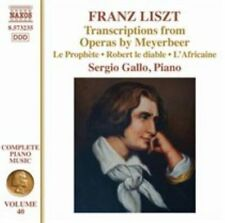 FRANZ LISZT: TRANSCRIPTIONS FROM OPERAS BY MEYERBEER NEW