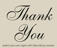 Thank You STENCIL Wedding Photo Prop Shabby French Script font Cottage Chic Sign