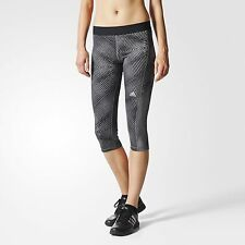 Adidas Women's TechFit Printed Capris Black 3/4 Fitted Tights M63442