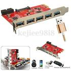 5 Port USB 3.0 to PCI-E Express Card Adapter Motherboard 15 20 pin high-speed