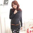 New Korean Womens Knitwears Jumpers Sweaters Long Tops Scarf Belt 1335