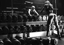 Gym Poster Hot Woman Training Motivational Large Wall Poster Print A0 or A1 Size