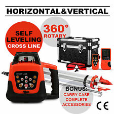Red Laser Level+1.65M Tripod+5M Staff Self Leveling Measure Cross Line Well Made