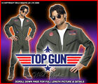 FANCY DRESS COSTUME # MENS TOP GUN JUMPSUIT LG