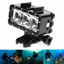 Pro 30m 3 LED Waterproof Diving Light + 1050mA Battery For GoPro Hero 4 3+ 3 New