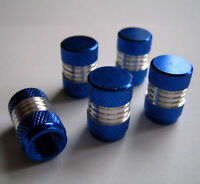 Blue/Silver Alloy Dust Valve Caps for Mercedes Benz A B C E S Class SLK CLK