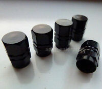 Black Hex Alloy Dust Valve Caps for Mercedes A B C E G M S Class ML CLK CLS SLK