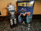 "Rare 10""SILVER Robby The Robot Wind Up Osaka Tin Toy Japan #0396S~NEW MIB Lmt ED"