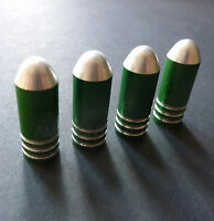 Green Alloy Bullet Dust Tyre Car Valve Caps for Mercedes A B C E S Class SLK ML