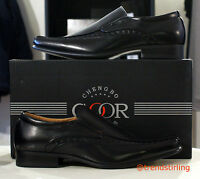 Sizes UK 6 - 12 Mens Goor leather lined Dress Casual designer sole black shoes