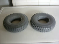 PAIR OF PUNCTURE PROOF MOBILITY SCOOTER TYRE 2.50x4. BRAND NEW COLOUR GREY.