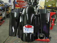 09-13 TOURING BAD DAD STRETCHED SADDLEBAGS AND SUMMIT HARLEY REPLACEMENT FENDER