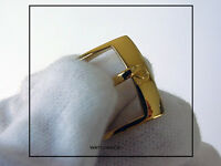 Special Offer: Omega Yellow Gold Watch Leather Band Strap Buckle 16mm inner Only