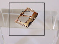 Omega Rose Gold Plated Watch Leather Band Strap Buckle 16mm inner Only