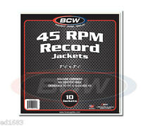 250 BCW Heavy Paper Record Jackets 45-RPM for 7-inch Vinyl Disc 7 3/8 X 7 1/4