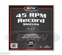 250 BCW Virgin Paper Record Sleeves 45-RPM for 7-inch Vinyl Disc - 7 1/8 X 7