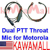 Dual PTT Throat mic for Cobra Microtalk GMRS FRS Radio