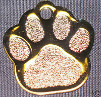 PET TAGS,  DOG TAGS,  CAT TAGS,  ID TAGS, PAW GOLD