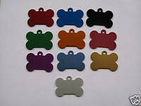 PET TAGS,  DOG TAGS,  CAT TAGS,  ID TAGS, BONE MEDIUM