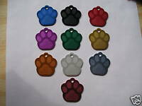 PET TAGS,  DOG TAGS,  CAT TAGS,  ID TAGS, PAW LARGE