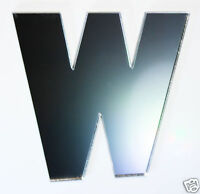 Letter W Shatterproof Mirrors 5cm Letters Alphabet Safety Acrylic