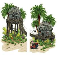 """Pirate Hideaway Scene Setter - Large Wall Party Decoration 61.5"""" W x 5 ft H"""
