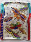 Fashion Women's Lady's Scarf 100% SILK ABSTRACT Dragonfly Print SCARVES SHAWLS