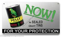 POLLY GAS PREM MOTOR OIL CAN SIGN FREE S&H