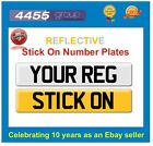 REFLECTIVE STICK ON NUMBER PLATE +++++FREE P&P+++++