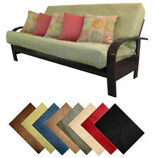 Solid Microfiber Suede Futon Cover Choose Size & Color!