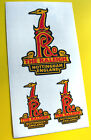 RALEIGH Vintage style Cycle Bike head Decals Stickers