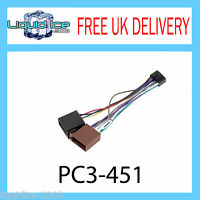 PC3-451 KENWOOD 16 PIN TO ISO LEAD STEREO HEAD UNIT ADAPTOR WIRING HARNESS