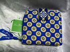 NEW VERA BRADLEY MINI ZIP WALLET RIVIERA BLUE nwt