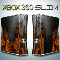 Xbox 360 SLIM Skin - FIRE DIAMOND PLATE