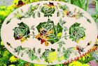 New White Oval 16x10 ROSES WINDOW DECAL Floral Garland Glass & Front Door Decor
