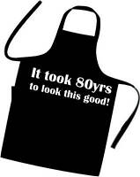 Novelty 80th Birthday Cooks / Chefs Apron Excellent Gift Great For The BBQ