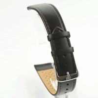 Di Modell Extra Long Dark Brown Leather Watch Strap 18mm / 20mm (H0 D BRN)