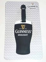 Malaysia GUINNESS Draught PINT GLASS Rubber LUGGAGE TAG Limited Edition.