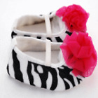 New Zebra Hot Pink Soft Crib Shoes Infant Baby Slippers