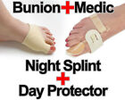 Bunion Pain Relief Kit - Night Splint & Gel Daytime Protector - MENS