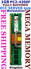 Kingston 1GB DDR2 PC2-4200F FULLY BUFFERED SERVER Memory