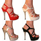 MENS SEXY STRAPPY PLATFORM POLE DANCING STILETTO HEEL SANDALS SHOES SIZE 9-11