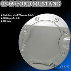 05-09 FORD MUSTANG FUEL GAS TANK DOOR COVER CAP CHROME LOOK TRIM STAINLESS STEEL