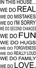 "IN THIS HOUSE WE DO LOVE QUOTE VINYL WALL DECAL WORDS 10"" X 19.5"""