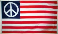 USA PEACE CND FLAG U.S.A. Stars and stripes UNITED STATES OF AMERICA 5X3