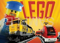 LEGO TRAIN POSTER PRINT ART POSTER PICTURE A3 SIZE GZ1685