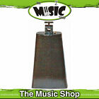 """Powerbeat 7 1/2"""" Steel Cowbell Thumbscrew Mount - New Cow Bell for Drums"""