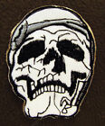 WHITE SKULL HEAD Iron On/Sew On Patch Emo Goth Punk Rock